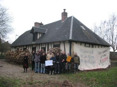 Ferme des Bouillons, occupation. Mont-Saint-Aignan